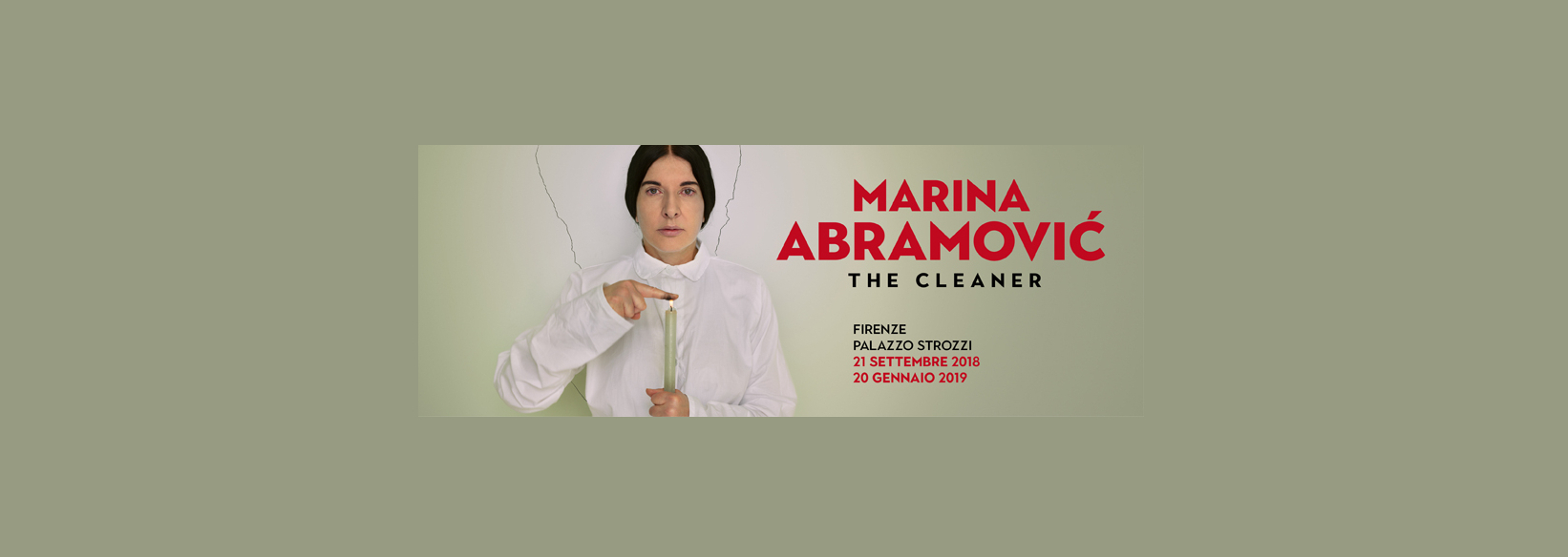 Exhibition Marina Abramović in Florence