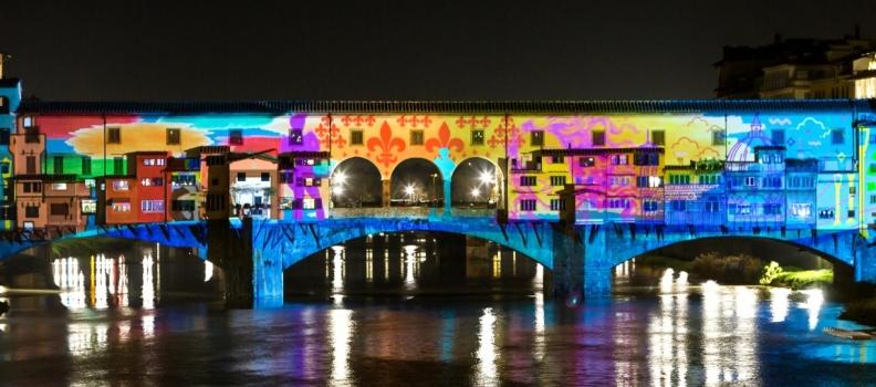 F-Light Festival: Christmas lights in Florence